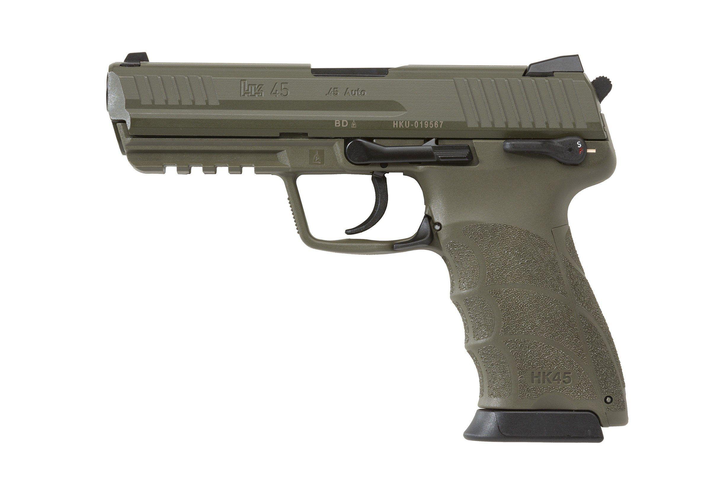 HK45 Compact, Heckler & Koch HK45 Compact OD Green Frame ...