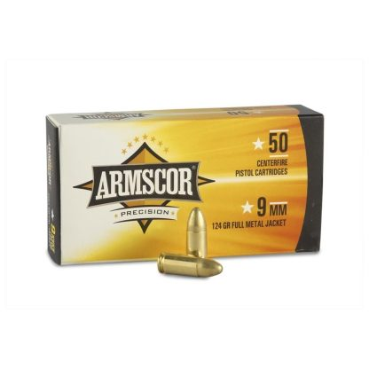 Armscor Ammo 9mm 124gr FMJ  1000 RD Case