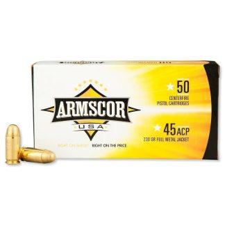 Armscor Ammo 45 ACP 230gr FMJ 1000 RD Case