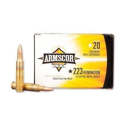 Armscor Ammo 223 REM 62gr PSP Bonded 1000 Round Case