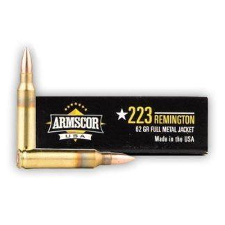 Armscor Ammo 223 REM 62gr FMJ 1000 RD Case