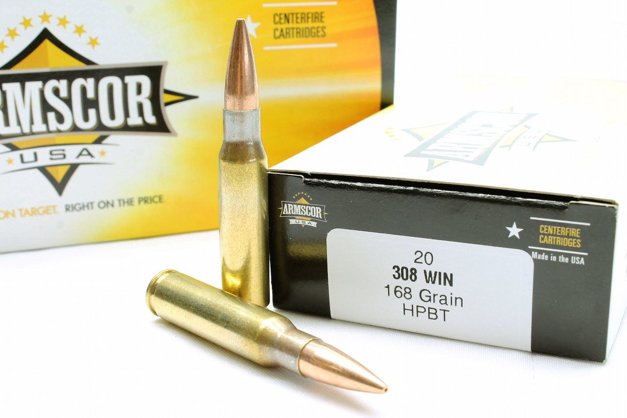 Armscor Ammo 308 WIN 168gr HPBT 200 RD Case