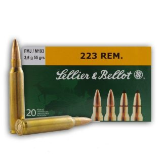 .223 Rem. 55 Grain FMJ 20 Round Box-Sellier & Bellot-AR 15-Rifle