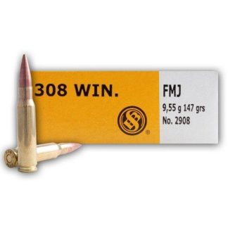 00 Rounds of 308 Winchester 147 gr FMJ Ammo For Sale