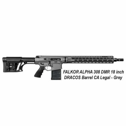 FALKOR ALPHA 308 DMR 18 inch DRACOS Barrel, Grey, CA Legal, in Stock, For Sale