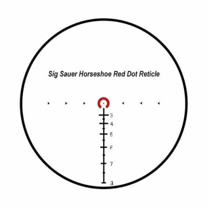 Sig Sauer 5.56/7.62 Horseshoe Red Dot Reticle
