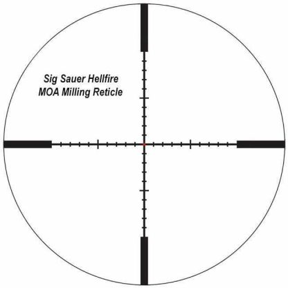 Sig Sauer Hellfire MOA Milling Reticle