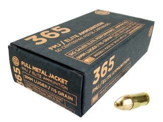 Sig Sauer P365 9mm 115 Gr Elite Ball FMJ 50Rd Box