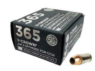Sig Sauer P365 9mm 115 Gr Elite V-Crown JHP 20Rd Box, Sig 798681591633, Sig E9MMA1-365-20
