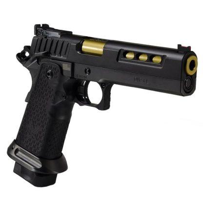 STI DVC L Black/Gold 9mm, STI DVC L Black 9mm with gold barrel, STI Dvc Limited Black with gold barrel, STI 10-271000-90, STI 816781016235