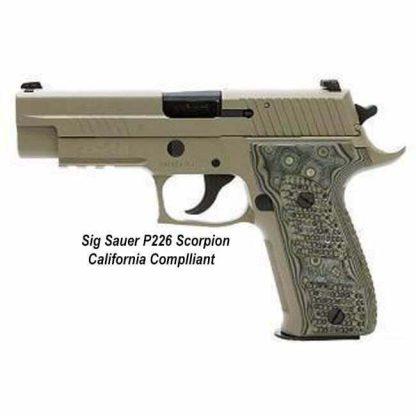 Sig Sauer P226 Scorpion California Compliant (10 Round), 226R-9-SCPN-CA, 98681450107, in Stock, For Sale