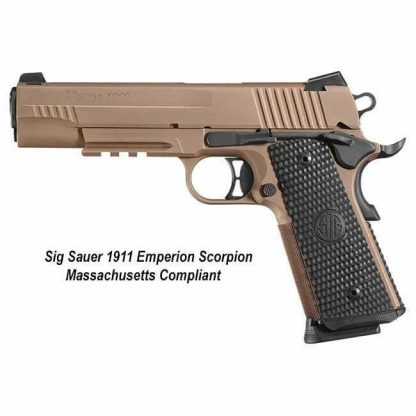 Sig Sauer 1911 Emperor Scorpion Massachusetts Compliant, 911RM-45-ESCPN, 798681583423, in Stock, For Sale