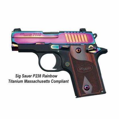 Sig Sauer P238 Rainbow Titanium Massachusetts Compliant, 238M-380-RBT, 98681426218, in Stock, For Sale