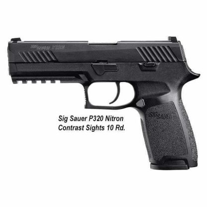 Sig Sauer P320 Nitron Contrast Sights 10 Rd, 320C-9-B-10, 798681505982, in Stock, For Sale
