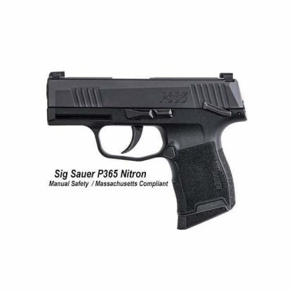 Sig Sauer P365 NItron Manual Safety Massachusetts Compliant, 365-9-BXR3-MS-MA, 798681602995, in Stock, For Sale