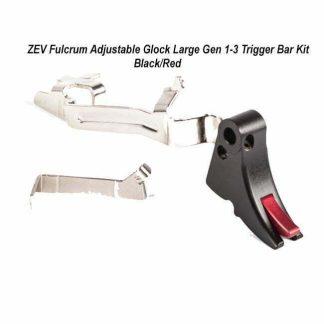 ZEV Fulcrum Adjustable Glock Large Gen 1-3 Trigger Bar Kit – (Blk/Red), FUL-ADJ-BAR-LG-B-R, 811745029429, in Stock, For Sale
