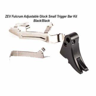 ZEV Fulcrum Adjustable Glock Small Trigger Bar Kit – (Blk/Blk), FUL-ADJ-BAR-SM-B-B, 811745029436, in Stock, For Sale