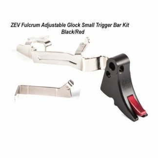 ZEV Fulcrum Adjustable Glock Small Trigger Bar Kit – (Blk/Red), FUL-ADJ-BAR-SM-B-R, 811745029443, in Stock, For Sale