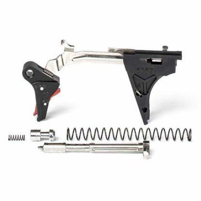 ZEV PRO Flat Face Glock 40 Gen 4 Ultimate Trigger Kit – (Blk/Red), ZEV FFT-PRO-ULT-4G40-B-R, ZEV 811338032652