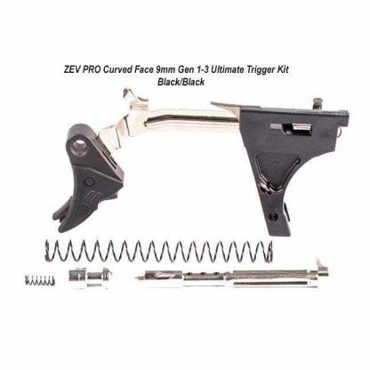ZEV PRO Curved Face 9mm Gen 1-3 Ultimate Trigger Kit – (Blk/Blk), CFT-PRO-ULT-3G9-B-B, 811745029856, in Stock, For Sale