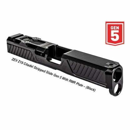 ZEV Z17 Citadel Stripped Slide Gen 5 With RMR Plate, Black, SLD-Z19-5G-CIT-RMR-DLC, 811338034632, in Stock, For Sale