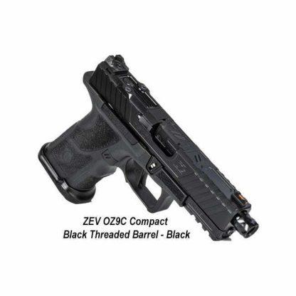 ZEV OZ9C Compact - Black Threaded Barrel - Black, OZ9C-CPT-B-B-TH, 811338035134, in Stock, For Sale