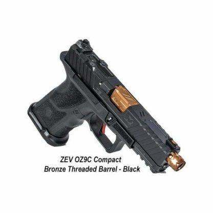 ZEV OZ9C Compact - Bronze Threaded Barrel - Black, OZ9C-CPT-B-BRZ-TH, 811338035158, in Stock, For Sale