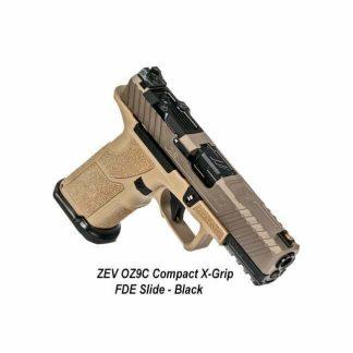 ZEV OZ9C Compact X-Grip - FDE Slide - Black, OZ9C-X-CPT-FDE-B, 811338035578, in Stock, For Sale
