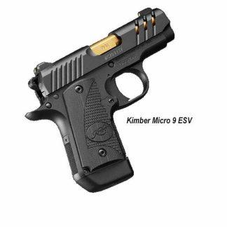 Kimber Micro 9 ESV Black - Gold Barrel, 3300199, 669278331997, For sale