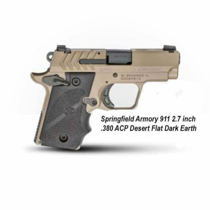Springfield Armory 911 2.7 inch .380 ACP Desert FDE, PG9109F, in Stock, For Sale
