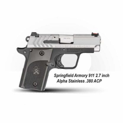 Springfield Armory 911 2.7 inch Alpha Stainless .380 ACP, PG9108S, in Stock, For Sale