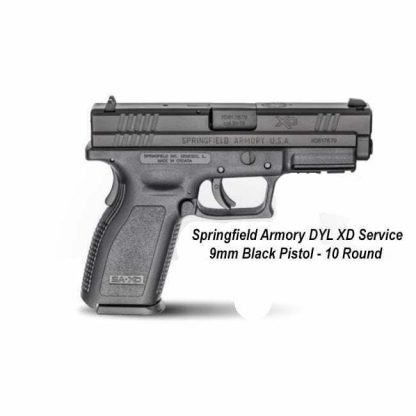 Springfield Armory DYL XD Service 9mm Black Pistol - 10 Round, XDD9101, in Stock, For Sale