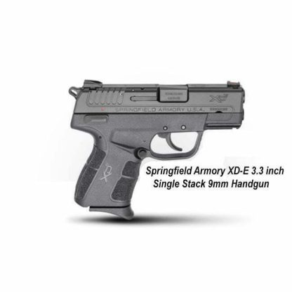 Springfield Armory XD-E 3.3 inch Single Stack 9mm Handgun, XDE9339BE, in Stock, For Sale