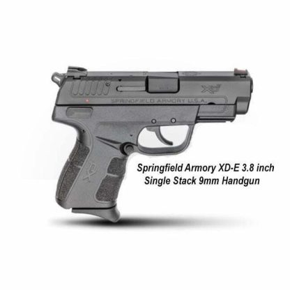 Springfield Armory XD-E 3.8 inch Single Stack 9mm Handgun, XDE9389B, in Stock, For Sale