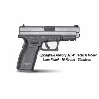 """Springfield Armory XD 4"""" Service Model 9mm Stainless Pistol - 10 Round, in Stock, For Sale"""