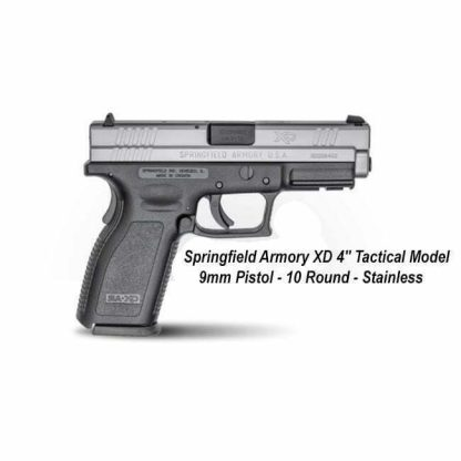 "Springfield Armory XD 4"" Service Model 9mm Stainless Pistol - 10 Round, in Stock, For Sale"