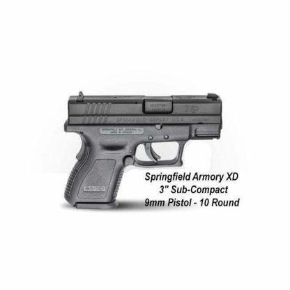 """Springfield Armory XD 3"""" Sub-Compact 9mm Pistol - 10 Round, XD9801, in Stock, For Sale"""