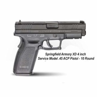 """Springfield Armory XD 4"""" Service Model .45 ACP Pistol - 10 Round, in Stock, For Sale"""
