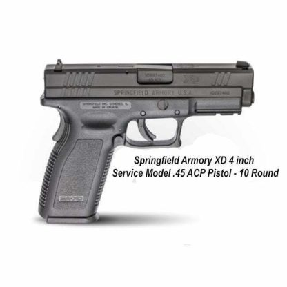 "Springfield Armory XD 4"" Service Model .45 ACP Pistol - 10 Round, in Stock, For Sale"