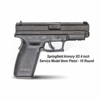 """Springfield Armory XD 4"""" Service Model 9mm Pistol - 10 Round, XD9101, in Stock, For Sale"""