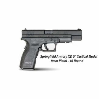 """Springfield Armory XD 5"""" Tactical Model 9mm Pistol - 10 Round, XD9401, in Stock, For Sale"""