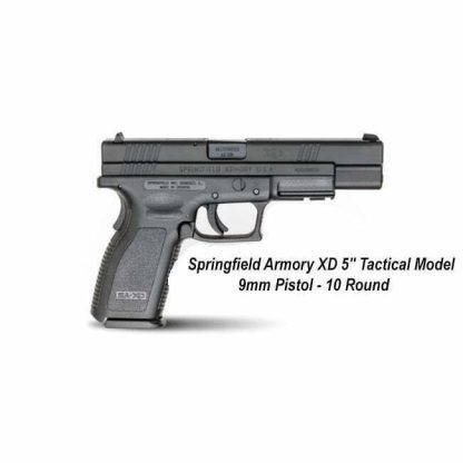 "Springfield Armory XD 5"" Tactical Model 9mm Pistol - 10 Round, XD9401, in Stock, For Sale"