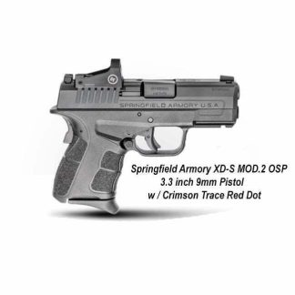 Springfield Armory XD-S MOD.2 OSP 3.3 inch 9mm Pistol w / Crimson Red Dot, XDSG9339BCT, 706397941185, in Stock, For Sale