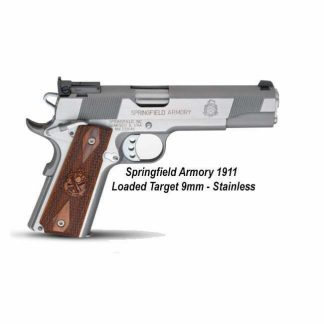 Springfield Armory 1911 Loaded Target 9mm, Stainless, California Compliant, PI9134LCA, 706397913175, in Stock, For Sale
