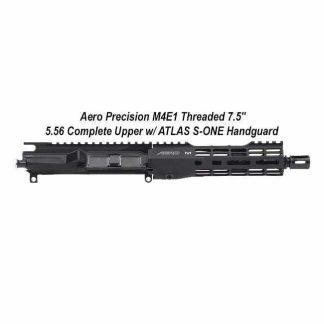 """Aero Precision M4E1 Threaded 7.5"""" 5.56 Complete Upper Receiver w/ ATLAS S-ONE Handguard, Black, APPG700216, in Stock, For Sale"""