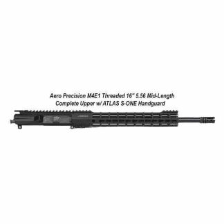 "Aero Precision M4E1 Threaded 16"" 5.56 Mid-Length Complete Upper Receiver w/ ATLAS S-ONE Handguard, Black, APPG700208, in Stock, For Sale"