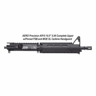 "AERO Precision AR15 10.5"" 5.56 Complete Upper w/Pinned FSB and MOE SL Carbine Handguard, Black, APPG502504M3, in Stock, For Sale"