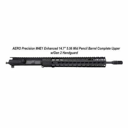 """AERO Precision M4E1 Enhanced 14.7"""" 5.56 Mid Pencil Barrel Complete Upper w/Gen 2 Handguard, Black, APPG600231P38, in Stock, For Sale"""