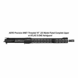 "AERO Precision M4E1 Threaded 16"" .223 Wylde Fluted Complete Upper w/ ATLAS S-ONE Handguard, Black, APPG700205F, in Stock, For Sale"