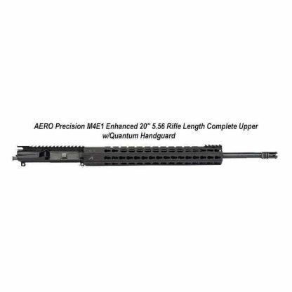 "AERO Precision M4E1 Enhanced 20"" 5.56 Rifle Length Complete Upper w/Quantum Handguard, Black, APPG640005P48, in Stock, For Sale"